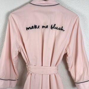 Pink Kate Spade Make Me Blush Robe